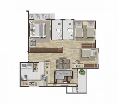 Planta Final 01 - Alpha Home Residence