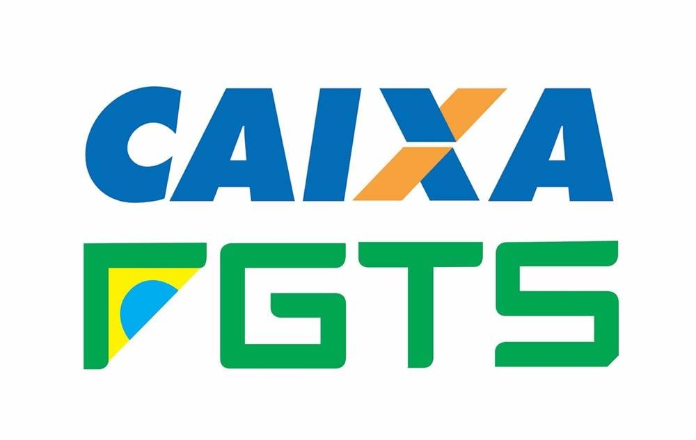 Logo da Caixa + FGTS
